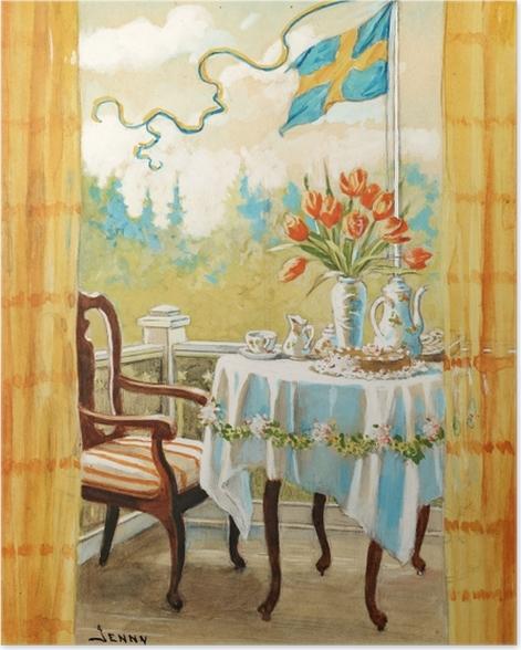 Poster Jenny Nyström - Aquarelle et crayon - Reproductions