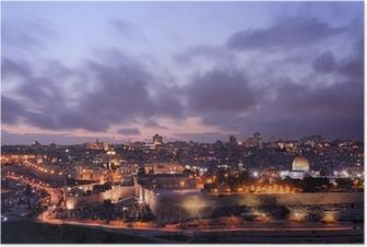 Poster Jerusalem Skyline