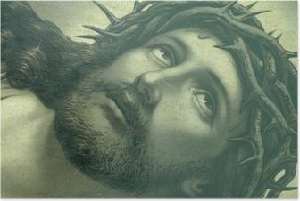 Poster Jésus icône coup d'oeil