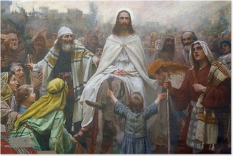 Jesus on Palm Sunday Poster