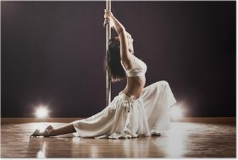 Poster Jeune femme de pole dance