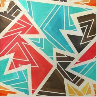Poster Jeunes géométrique seamless effet grunge