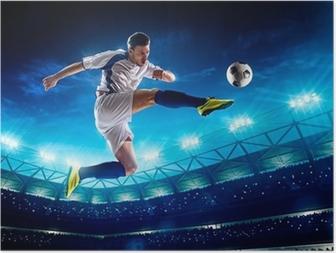 Poster Joueur de football en action