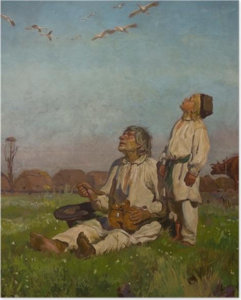 Poster Józef Chełmoński - Cigognes - Reproductions