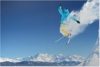 Jumping skier Poster