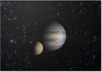 Jupiter and it's satellite Poster