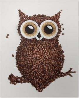 Poster Kaffe uggla.