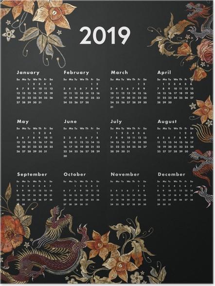Poster Kalendarz 2019 - automne -