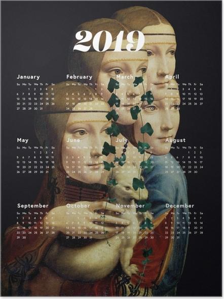 Poster Kalendarz 2019 - vrouwen en kunst -
