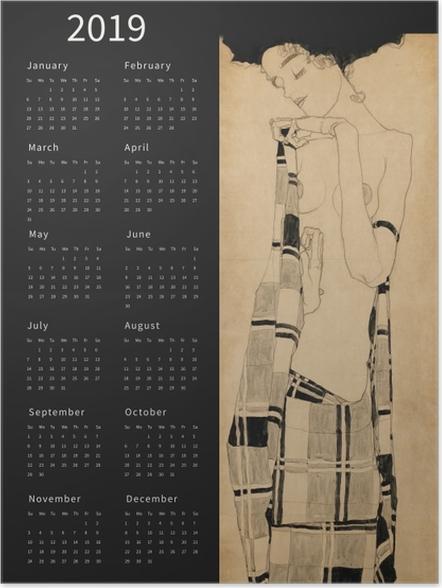 Poster Kalender 2019 - dromerige vrouw -