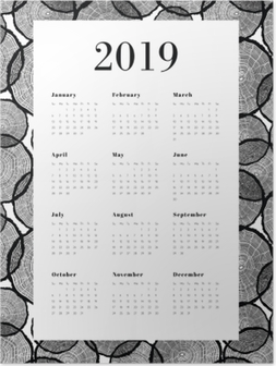 Poster Kalender 2019 – Trädstammar