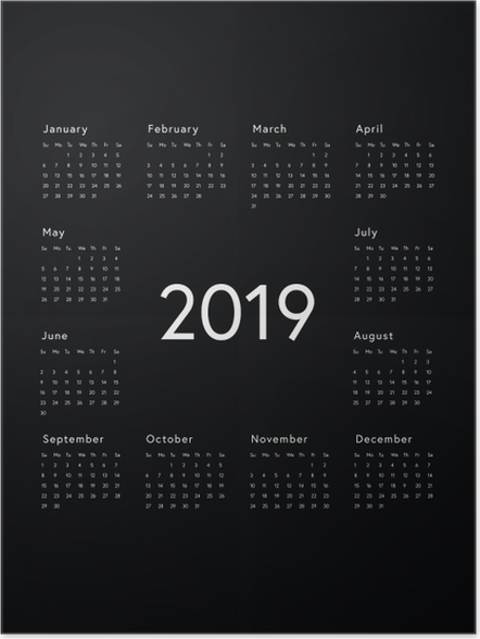 poster kalender 2019 zwart wit pixers we leven om. Black Bedroom Furniture Sets. Home Design Ideas