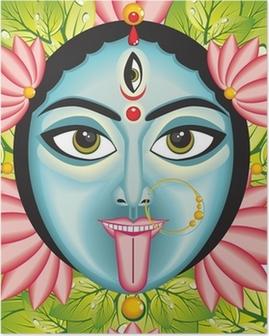 Poster Kali - Indiase Godin gezicht.