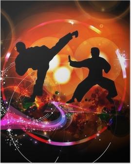 Poster Karate illustratie