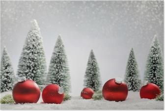 Zwart Wit Kerstdecoraties : Poster vakantie kerst zwart wit vector kaart met opknoping ballen