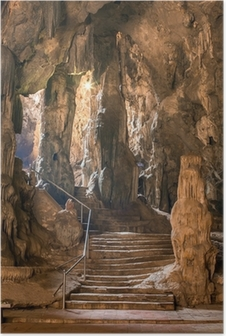 Póster Khao Luang cueva en Phetchaburi, Tailandia