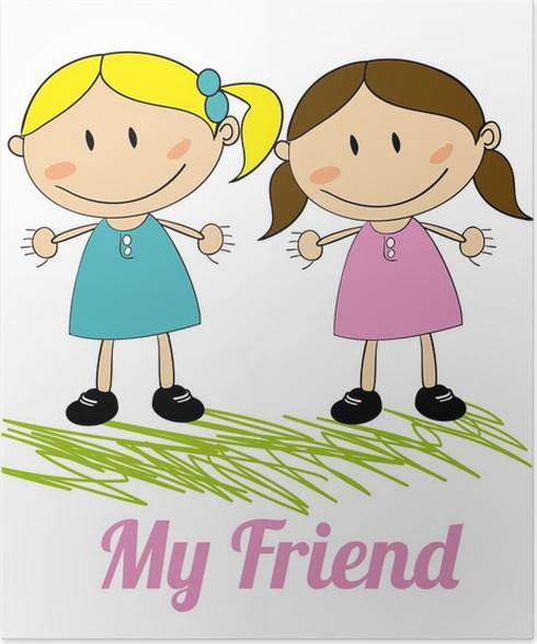 Kids Friends Design Poster