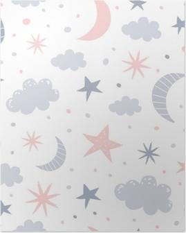 Poster Kinderdagverblijf patroon