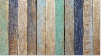 Poster Kleurrijke Houten Plank