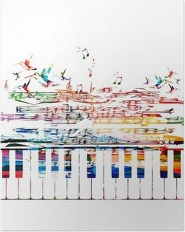 Poster Kleurrijke muziek achtergrond.