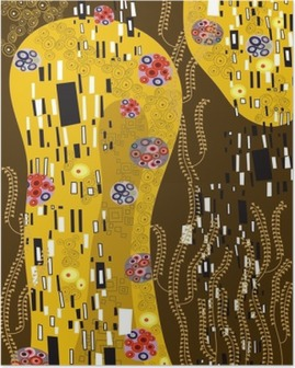 Poster Klimt geà ¯ nspireerd abstracte kunst