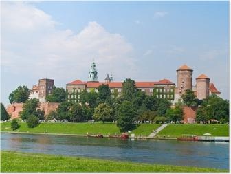 Poster Koninklijk kasteel in Wawel heuvel, Krakau, Polen
