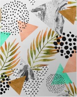 Poster Kort zomer geometrische naadloos patroon