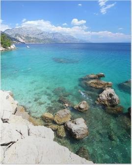 Poster Kroatië vakantie - Marusici strand van de Adriatische Zee