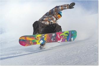 Poster L'évolution de snowboard