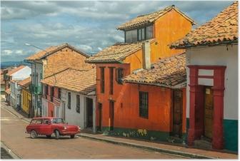 Poster La Candelaria, historische wijk in het centrum van Bogota, Colombi