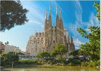 La Sagrada Familia, Barcelona, spain. Poster