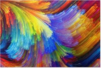 Poster La texture colorée