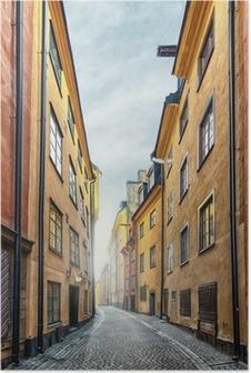 Poster La vieille ville de Stockholm