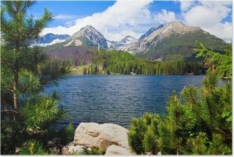 Póster Lago en Eslovaquia