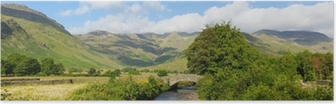 Lake District panorama Mickleden Beck river Langdale Valley Poster