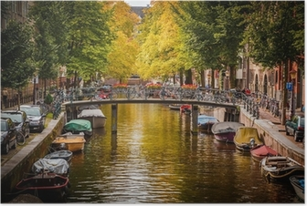 Poster Le canal d'Amsterdam