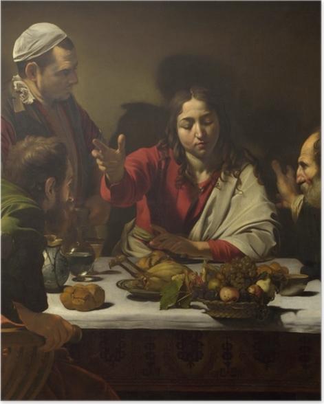 Poster Le Caravage - Le Souper à Emmaüs - Reproductions