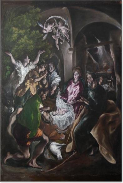 Poster Le Greco - L'Adoration des bergers - Reproductions