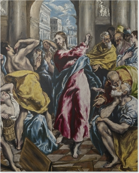 Poster Le Greco - L'Expulsion des marchands du temple - Reproductions