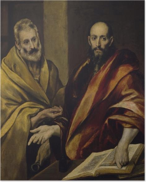 Poster Le Greco - Les Apôtres Pierre et Paul - Reproductions