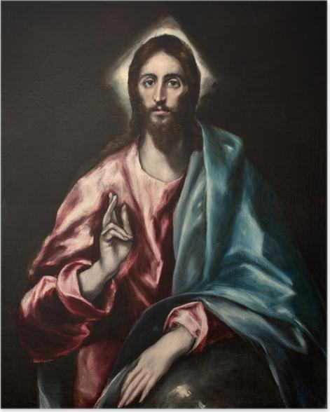 Poster Le Greco - Salvator Mundi (Le Sauveur) - Reproductions