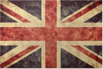 Poster Le grunge flag Royaume-Uni. Collection de drapeaux Vintage