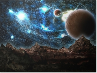 Poster Le monde perdu, planète, cosmos