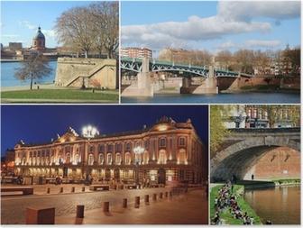 Poster Le tourisme dans Toulouse