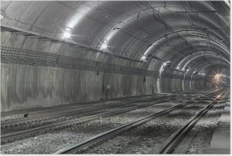 Poster Lege metro tunnel