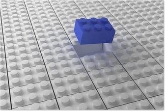 Lego background bw Poster
