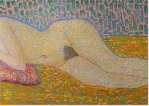 Poster Leo Gestel - Nu couché - Reproductions