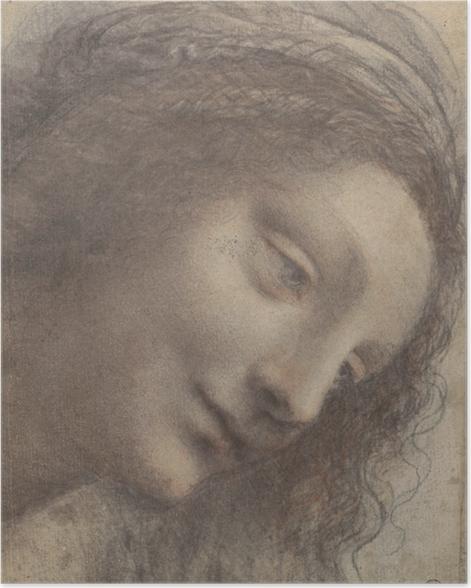 Poster Léonard de Vinci - Chef d'une femme - Reproductions