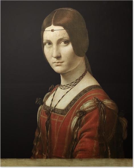 Poster Léonard de Vinci - La Belle Ferronière - Reproductions
