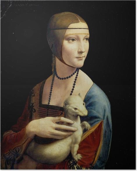 Poster Léonard de Vinci - La Dame à l'hermine - Reproductions